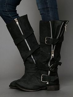 Free People Marlo Zip Buckle Boot
