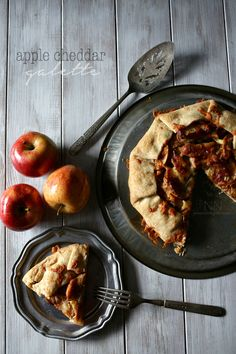 Apple Cheddar Galette: Sweet apples paired with sharp cheddar cheese wrapped up in a homemade pastry.