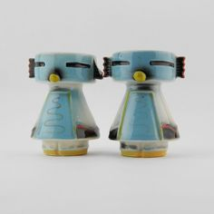 Vintage Mid Century Collectible Novelty Indian Kachina Salt And Pepper  Shakers Salt And Pepper Set,