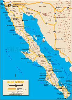 Baja Map - The entire peninsula.