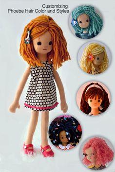 Custom Rag Doll with her own Wardrobe by PhoebeandEgg on Etsy