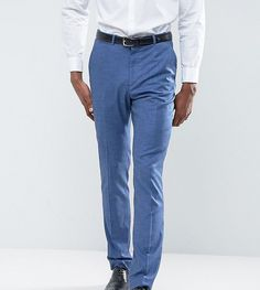 Get this Asos's slim trousers now! Click for more details. Worldwide shipping. ASOS TALL Wedding Slim Suit Trouser in Blue Tonic - Blue: Suit trousers by ASOS TALL, Woven fabric, Contains stretch for comfort, Concealed fly, Side pockets and two back pockets, Slim fit - cut close to the body, Machine wash, 74% Viscose, 23% Polyester, 3% Elastane, Our model wears a W 32 L 36 and is 193cm/6'4 tall. Your complete guide to longer lengths has arrived. Designed to fit guys 6�3�/1.92m and above, ...