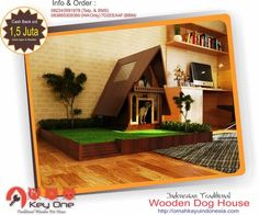 Indonesian Traditional Wooden Dog House Rumah Adat Tambi