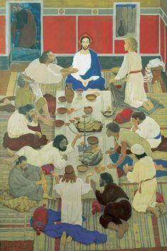 Dmitry Zhilinsky - Last Supper. Marc Chagall, Kandinsky, Art And Illustration, Pictures Of Jesus Christ, Poster Photography, Soviet Art, Kunst Poster, Biblical Art, Last Supper