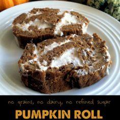 No grains, no dairy, no refined sugar Pumpkin Roll #PrimallyInspired