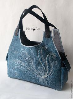 """Сумка """"Цветок"""" - синий,цветочный,сумка,сумка женская,сумка ручной работы"""