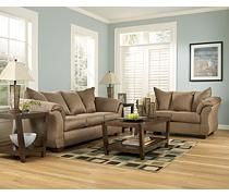 My new sofa and love seat for my apartment - Ashley's Furniture - Darcy - Mocha Sofa