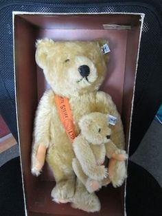 Steiff Mama & Baby Teddy Bear #1927-  LTD 101st Anniversary House of Steiff 1981