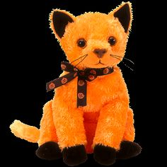 583c069d75e MY ty beanie baby SCARED-E adorable orange black kitty cat MINT WITH TAGS  Cat