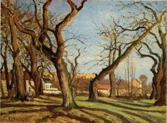 Groves of Chestnut Trees at Louveciennes - Camille Pissarro - Oil Painting Reproduction