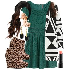 Aria Montgomery inspired outfit by liarsstyle on Polyvore featuring H&M, Forever 21, Qupid, Vince Camuto, MAC Cosmetics, Bobbi Brown Cosmetics, Christmas, date, formal and Dinner