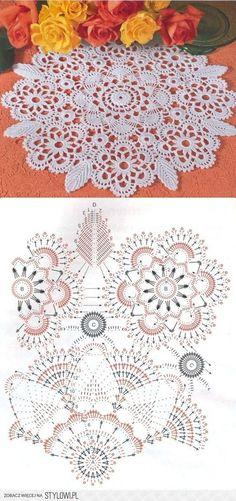 Hobby: Damskie pasje i hobby. Odkryj i pokaż innym Twoje hobby. Free Crochet Doily Patterns, Crochet Diagram, Crochet Chart, Crochet Squares, Crochet Motif, Filet Crochet, Crochet Needles, Thread Crochet, Crochet Buttons