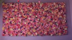 Silk Flower Wall Art from Tassel Fairy's Rainbow Unicorn House Tour