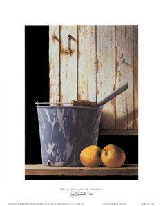 Graniteware and Apples  Art Print  by Ray Hendershot                            ****