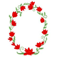 Free Embroidery Design: Flower Wreath