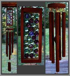 Unique designs using glass, beach stones, copper and wood.