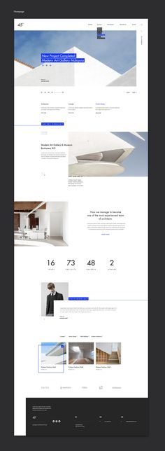 45 degrees - Architecture Studio PSD | themeforest.net on Behance  - No site #ThemeForest encontra os melhores #Templates & #Plugins para #Wordpress. Confira em http://www.estrategiadigital.pt/themeforest-templates-wordpress/