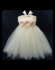 Flower Girl Dress Tutu Tutus Portrait Dress by StrawberrieRose, $79.95