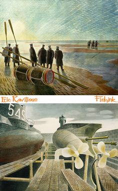 Fishink in London Part Eric Ravilious Dulwich Picture Gallery, Mid Century Design, Illustrators, About Me Blog, Stationery, London, Authors, Artist, Photography