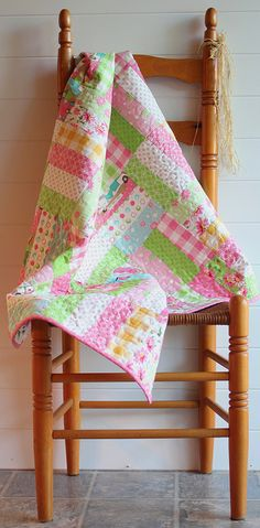 Jelly Roll Jam quilt by PamKittyMorning, via Flickr