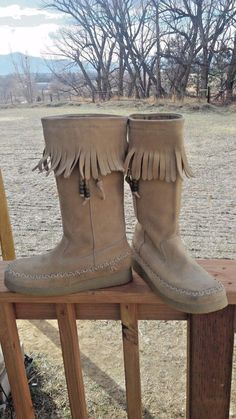 Report Tan Fringed Suede Leather Women's Boots W flat Soles Size 7 M | Clothing, Shoes & Accessories, Women's Shoes, Boots | eBay!