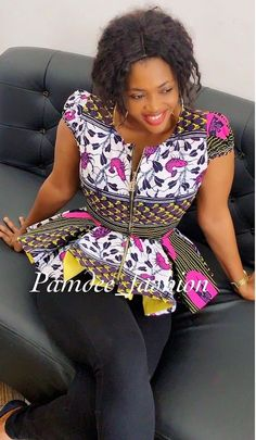eplum top available in size Uk Pric Short African Dresses, African Blouses, Latest African Fashion Dresses, African Print Dresses, African Print Clothing, African Print Fashion, African Attire, Camisoles, Peplum Dresses