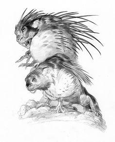 Coloring for adults en kleuren voor volwassenen Curious Creatures, Alien Creatures, Fantasy Creatures, Creature Concept Art, Creature Design, Monster Drawing, Alien Concept, Creature Drawings, Anime Poses Reference