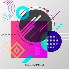 Fundo abstrato Vetor grátis Geometric Background, Geometric Art, Pattern Background, Vintage Typography, Vintage Logos, Retro Logos, Graph Design, Vector Design, Design Design