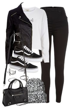 """""""Style #9680"""" by vany-alvarado ❤ liked on Polyvore featuring River Island, Vans, Topshop, Balenciaga, women's clothing, women's fashion, women, female, woman and misses"""