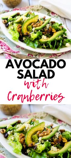 Nutritious Snack Tips For Equally Young Ones And Adults This Cranberry Avocado Salad Will Blow Your Mind It Is That Good Add A Protein For A Complete Meal, Or Serve It As A Side For Elegant Entertaining Healthy And Delicious. Unquestionably One To Pin Avocado Recipes, Healthy Salad Recipes, Vegetarian Recipes, Sin Gluten, Avocado Toast, Ensalada Thai, Guacamole, Best Salads Ever, Best Nutrition Food