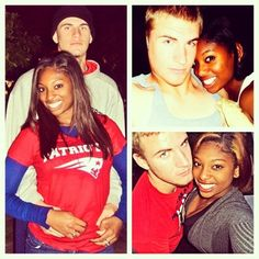 From high school sweethearts to husband & wife. Very cute together.