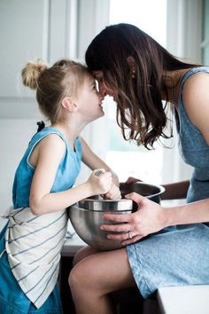 A lovely intimate moment of mom and daughter cooking together in the home kitchen. Cooking Photography, Lifestyle Photography, Children Photography, Family Photography, Mother Daughter Photos, Mom Daughter, Mother And Child, How To Pose, Mothers Love