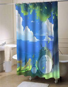 totoro summer shower curtain customized design for home decor #showercurtain #showercurtains #shower #curtain #curtains #bath #bathroom #home #living #homeliving #cutecurtain #funnycurtain #decorativeshowercurtain #decoration