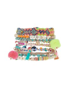 With their brightly coloured beads and funky charms, our Carnival stretch bracelets will get you in the spirit of the sunshine seasons. Stack them up for a c...