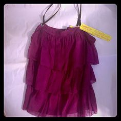 NWT, Authentic Catherine Malandrino, Layered Tank! Absolutely Gorgeous, NWT, Catherine Malandrino, Tiered, Camisole Tank Top. Orig. $360, this Tank is a Beautiful, Deep Pink/Magenta (Tag calls Color:Bud) w/Thin, Black, Leather, Straps. Theres a Side Zip-Closure (Shown in 3rd Photo). Size 6, however Im usually a Size 2-4 & it Fits me nicely too-All depends on the Look u Prefer-Loose & Flowy or More Fitted, & Cleavage Revealing. Regardless, u Simply cant go wrong-This Cami is High-Quality…