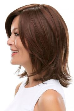 Rosie by Jon Renau Wigs - Lace Front, Monofilament Wig Medium Hair Cuts, Long Hair Cuts, Medium Hair Styles, Short Hair Styles, Natural Hair Styles, Choppy Bob Hairstyles, Straight Hairstyles, Top Hairstyles, Short Haircuts