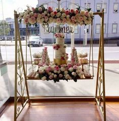 ideas for backyard wedding cake shabby chic – Wedding Wedding Tags, Chic Wedding, Our Wedding, Cake Table Decorations, Wedding Stage Decorations, Candy Table, Backdrops For Parties, Event Decor, Bridal Shower