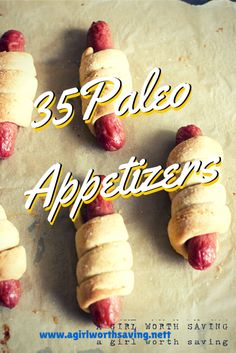 35 PALEO APPETIZERS - An awesome list!!! #paleo #grainfree #glutenfree