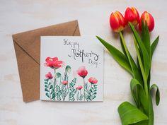 Sag es mit einer Karte: handgefertigt, einzigartig und mit Liebe gemacht. Die perfekte kleine Aufmerksamkeit für deine Mama. ♥ #etsy #feiertdieliebe #etsyde #etsyshop #etsymakers #handgemacht #handgefertigt #mitliebegemacht #muttertag #geschenk #muttertagsgeschenk #geschenkidee #muttertagskarte #karte #geschenkkarte Memorial Flowers, Congratulations Card, Diy Cards, Flower Prints, Diy And Crafts, Birthday Cards, Greeting Cards, Hand Painted, Etsy