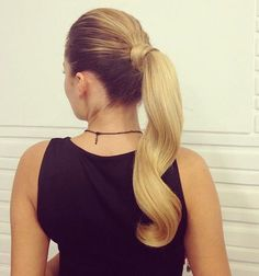thirty Cute Ponytail Hairstyles You Require to Consider Nowadays Cute Ponytail Hairstyles, Curled Ponytail, Cute Ponytails, Sleek Ponytail, 2015 Hairstyles, Pretty Hairstyles, Wedding Hairstyles, Ponytail Ideas, Hair Affair