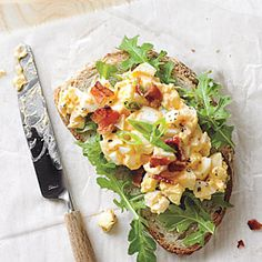 Egg Salad Sandwiches with Bacon and Sriracha | CookingLight.com #myplate #protein #vegetables #dairy