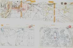 Film: Castle In The Sky ===== Layout Design: Assault On Laputa ===== Production Company: Studio Ghibli ===== Director: Hayao Miyazaki ===== Producer: Isao Takahata ===== Written by: Hayao Miyazaki ===== Distributed by: Toei Company