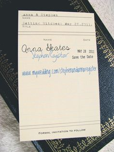 This was my friend @Anna Totten Register's save-the-date! Isn't it amazing?! She made them!!!