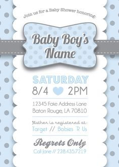 Teddy bear baby shower invitation for boys baby shower invites