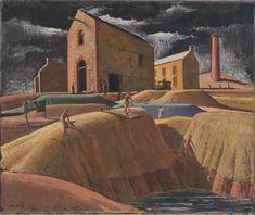 Kapunda mines | Jeffrey SMART | NGV | View Work Australian Painting, Australian Artists, Charles Sheeler, Jeffrey Smart, Gregory Crewdson, Great Paintings, Art Database, Artist Names, Landscape Art