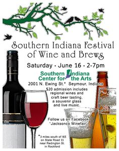 Mark your calendars for the Southern Indiana Festival of Wine & Brews Saturday June 16th at SICA
