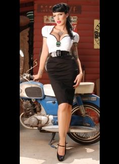 Troublemaker Dress in Black and White by Deadly Dames I'd LOVE this!