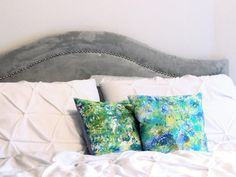 The DIY: Marbled Pillow Covers - DIY Your Way to Designer Summer Decor on HGTV