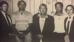 FBI agent Joseph Pistone AKA Donnie Brasco (2nd from left) poses with fellow FBI agents. Also pictured is agent Edgar Robb AKA Tony Rossi (2nd from right) who was working with Pistone undercover in Florida. Agent Doug Fencl (far right) was one of the agents who informed Sonny Black about Pistone's identity by showing him this and other photos.