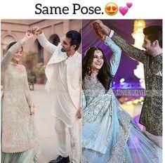 Wedding Dresses For Girls, Girls Dresses, Pakistani Actress, Celebs, Celebrities, Beautiful Couple, Sari, Actresses, Poses